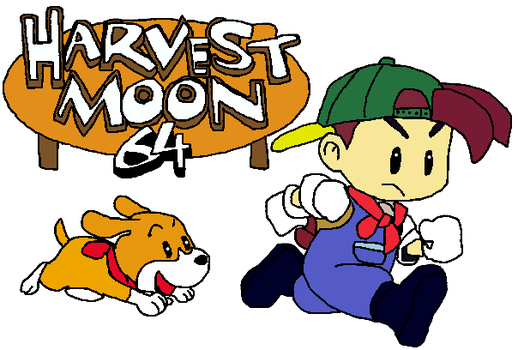 Harvest Moon 64 Logo by SierratheLurker