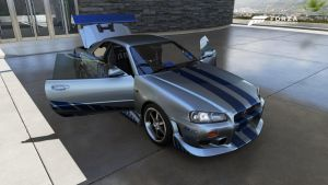 Brian's 1999 Skyline R34 from 2 Fast 2 Furious by NissanGTRFan