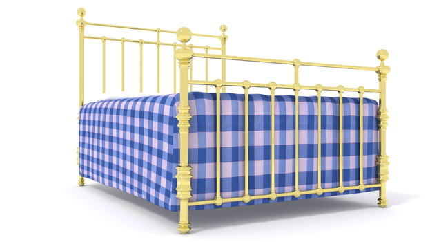 Double Brass Bed by kbmxpxfan