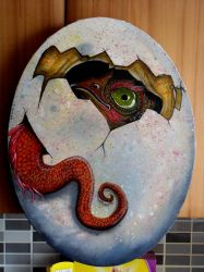 dragon hatching by barbelith2000ad