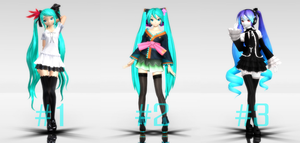 [MMD] Diva poses [Download] by MinuzNegative