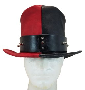 Red And Black Leather Top Hat by DanTheLefty