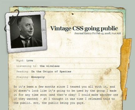 Vintage CSS - easy install. by thespook