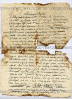 old letter by CannonCat