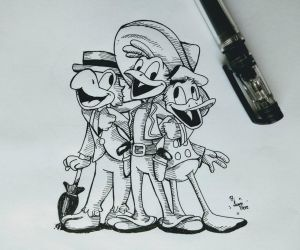 The three caballeros by HiSamHere