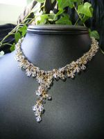 crystal shaggy necklace by BacktoEarthCreations