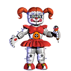 Circus Baby Idle Stage Animation by Lord-Kaine