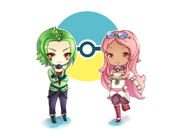 [Commission] - Chibi Ishidan and Rose by Neko-Slay