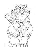 Zootopia Benjamin Clawhauser by krudetoons