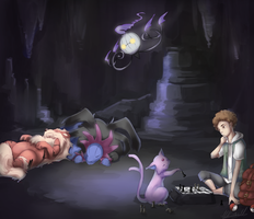 In the dark cave by Lubrian