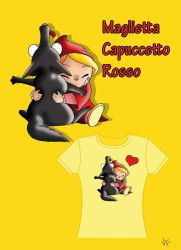 CappuccettoRosso T-shirt by Vallina84