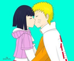 NaruHina Kiss by Momo-Gazerock