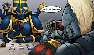 Space Marines the Gathering Playmat - Colour by RedSkittlez-DA