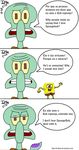 Squidward's message by iedasb