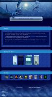 Blue Fantasy CSS Template by Lilyas