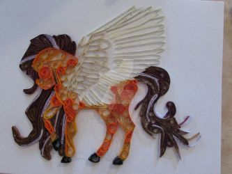 Quilling Horse by Fairling