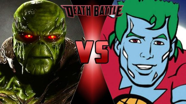 Swamp Thing vs. Captain Planet by OmnicidalClown1992