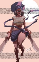 Nameless African Warrior by madstanlee