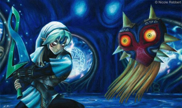 Fierce Deity Link vs. Majora's Mask by Quelchii