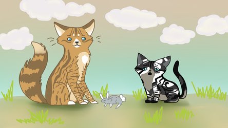 |FotC| Reedwhisker and Galepaw : Lesson Number One by cj-scribbles
