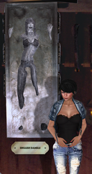 slave penelope in tight jeans  frozen in carbonite by Cloudartistmaster