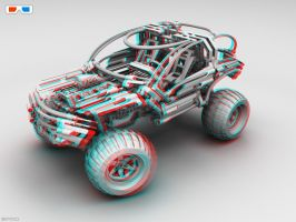 Lego OffRoader for 3D Glasses by pixelquarry