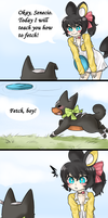 HPM: Amara, that's not how you frisbee by Saki-Chin