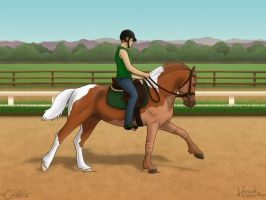 The Celtic Cob - Love At First Canter by daggerstale