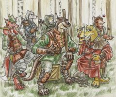Atticus and his bandit gang by SteinWill