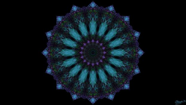 Turquoise and Amethyst Ferris Wheel by shaych03