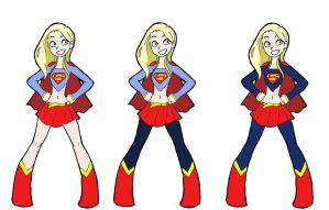 Supergirl designs by ActionKiddy