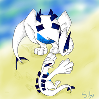 .:: Beach Baby Lugia ::. by wolfxdog