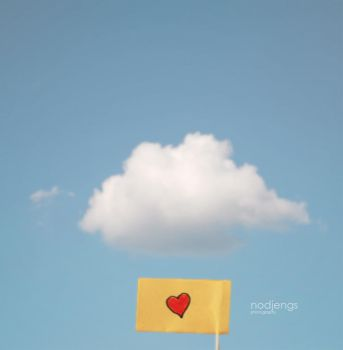 heart flag and cloud by ndjengs