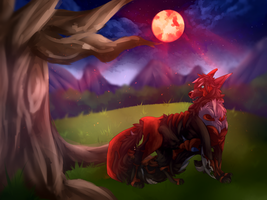 Commission || Blood Moon by Limiitsu