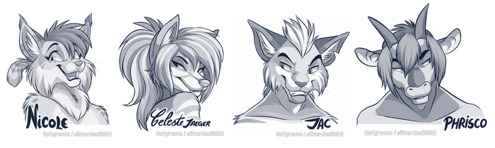 Twitter headshot sketches Part 2 by Synthucard