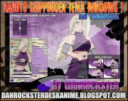 Ino Yamanaka Theme Windows 7 by Danrockster
