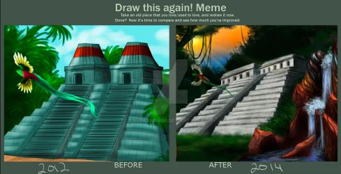 Draw This Again: Aztec temple. by AlbaAragon