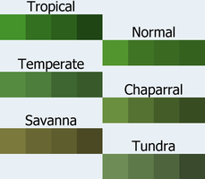 minecraft grass swatches by Quorong