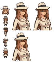 Pixel Portrait - Detective [Updated 4/15] by Amysaurus121