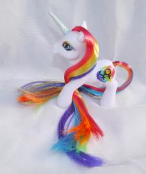 Gay Pride Rainbow Custom My Little Pony by mayanbutterfly