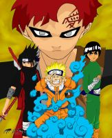 Gaara Vs Leaf by l3xxybaby