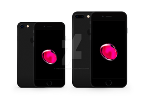 iPhone 7 and 7 Plus Vector Mockup - Black by theanthnonyrich