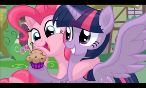 Pinkie Pie and Twilight Sparkle - For You by RavenEvert