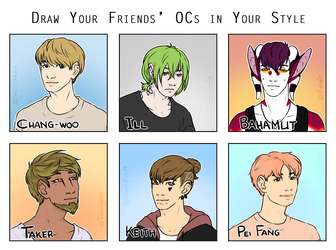MEME: Draw Your Friends' OCs in Your Style by popolis