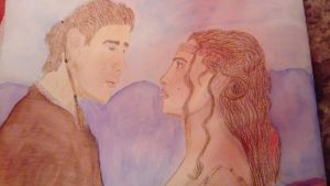 Anakin and Padme on Naboo ( Star Wars) Painting by LouiseArt2016