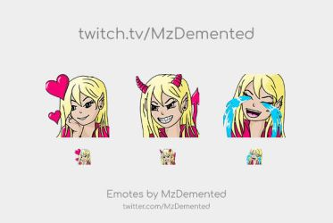Twitch Emotes for MzDemented (Myself) by MzDemented