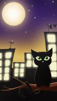 .:Moonlight cat:. by RikaChan3