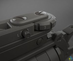 SciFi Snubnose Revolver - Shot7 by pixelquarry