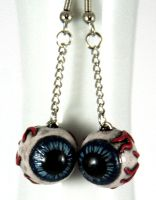 Crossed Eyes Earrings by NeverlandJewelry