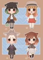Adoptable Batch 8 [CLOSED] [SET PRICE] by noireadopts